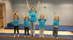 Sara Beth's Gymnasts with a few future students during the 280 Living interview December 28, 2017