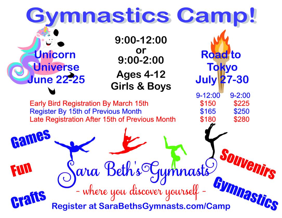 Flyer SBGym Summer Camp 2020